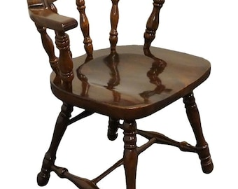 ETHAN ALLEN Antiqued Pine Old Tavern Mate's Chair 12-6001