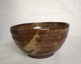 Handmade Ceramic Tea bowl,  Shino Chawan 14 oz
