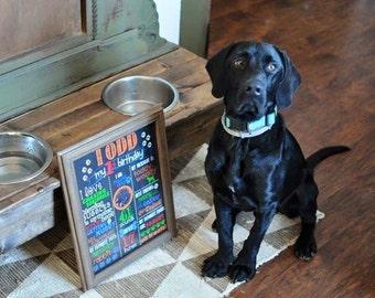 Animal Birthday Chalkboard / Pet Birthday Chalkboard / Dog Birthday Chalkboard / Cat Birthday Chalkboard / Printable Pet Birthday Chalkboard