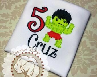Hulk Birthday Shirt, Hulk Shirt, Boys Birthday Shirt, The Hulk Birthday Shirt, Super Hero Shirt, Hero Birthday, incredible hulk