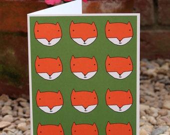 Fox print birthday card