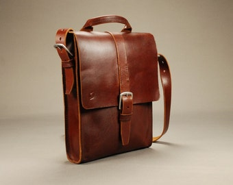 Redoker Postman Satchel Bag - Genuine leather satchel / Mens satchel / Womens satchel / Shoulder bag / Crossbody bag
