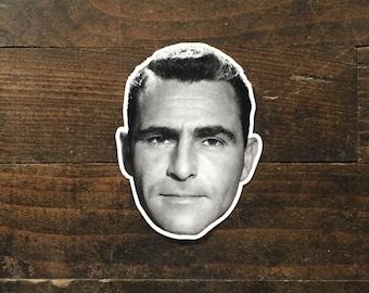 Rod Serling Twilight Zone Diecut Vinyl Sticker