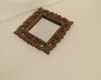 Mini Mirror - Painted metalic copper.