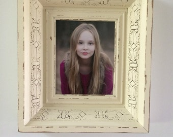 Distressed 8x10 picture frame shadow box.
