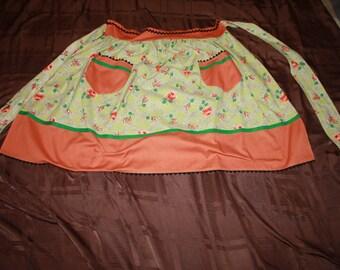 Green and Orange Apron