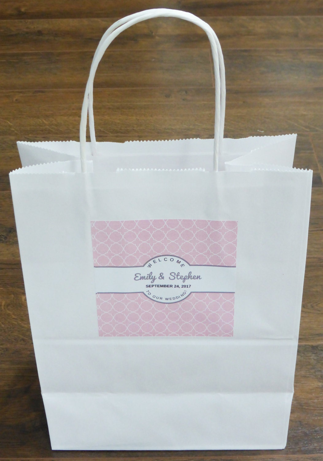Wedding Labels For Gift Bags: Wedding Welcome LABELS ONLY For Guest Bags Wedding Favor