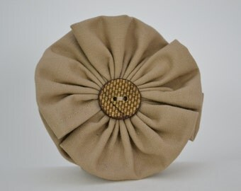 Taupe Flower Scarf Accessory