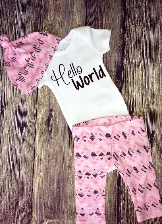 Baby Girl Coming Home Outfit Baby Girl Clothes Monogrammed. Find this Pin and more on Sawyer Elizabeth Baby Girl Coming Home Outfit Baby Girl Clothes Monogrammed Bodysuit Birthday Girl Outfit Photo Prop Personalized Baby Outfit.