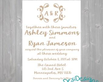 Simple Wedding Invitation Printables