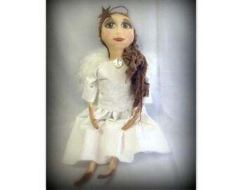 Angel Primitive Folk Art Doll