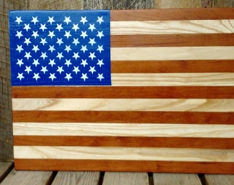 Rustic Wooden Handmade Hardwood Flag