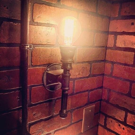 Steampunk Streamline Upright Wall Sconce Industrial Light