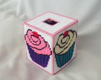 Cupcake Tissue Box Cover