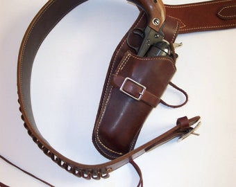 Vintage G. Lawrence 79-576 Fast draw Holster and Belt, size 44 Large