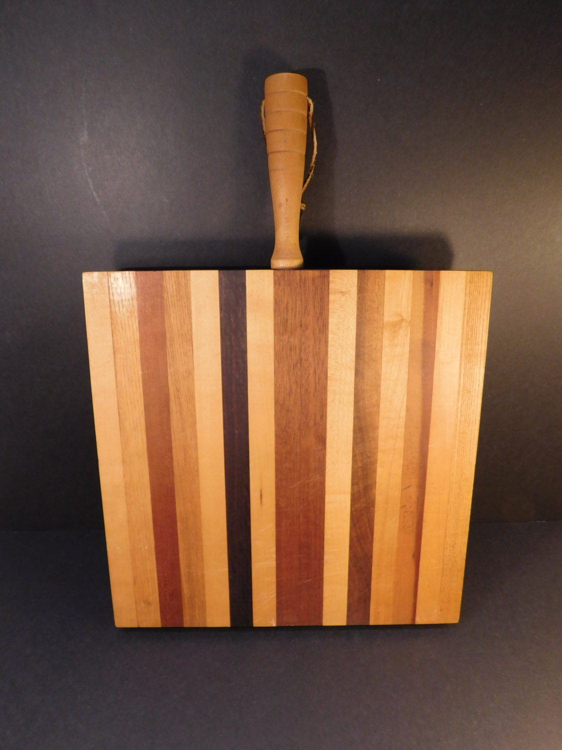 Vintage Wood Cutting Board Chopping Block With Handle Bread