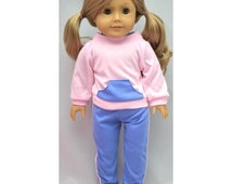 "Jogging suit - American Girl (or 14"" reborn baby doll)"