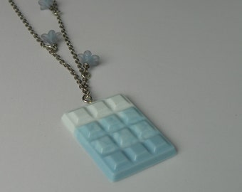 Resin necklace chocolate bar