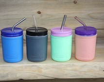 Mason Jar cozy / Silicone Sleeve / for Regular Mouth Half Pint Mason Jars (sleeve only, jar and other items sold seperately