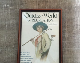 Outdoor World and Recreation magazine cover July 1913