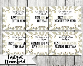 New Years Party Game, New Years Eve Party, NYE Party Game, NYE Printable, New Years Party, Conversation Starter Game, NYE game