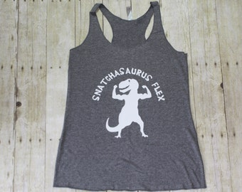 Snatchesaurus Flex funny gym tanks, Funny workout tanks for women, Cute workout tanks, Best friend gift,  Fitness motivation, Fitness TBT015