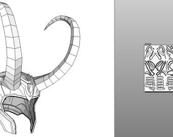 Pepakura Helmet Loki from Avengers - Thor 2