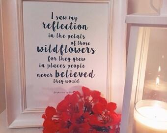 "A4 size ""Wildflowers"" Print"