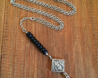 First Day Supplies Beaded Lanyard Silver School ID Badge Holder Necklace Credentials Medical Government Employee Teacher Gift Corporate Gift