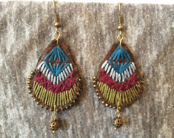 TEXTILE EARRINGS, Mexican Jewelry