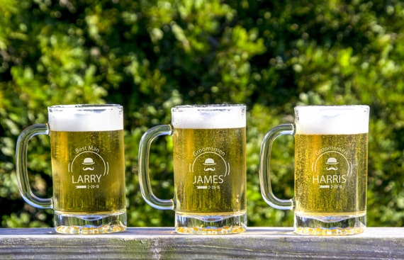 Customized Wedding Beer Glasses : 13 Personalized Beer Glasses, Custom Engraved Pilsner Glass, Wedding ...