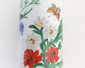Heinrich Bavaria German Hand painted vase Heinrich porcelain germany pottery bavarian ceramics fauna & floral design