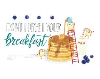 Breakfast - Toastie Collection Art Print