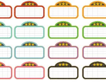 Movie Marquee Planner Stickers