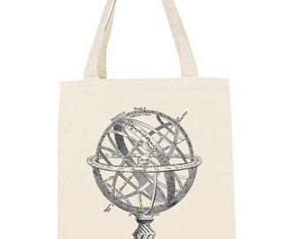 Canvas Market Tote Armillary Sphere