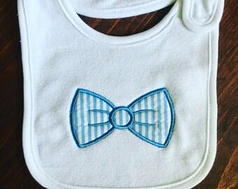 Bow Tie Applique Bib/ baby boy/ baby gift/ baby shower/ boy/ bib/ baby bib/ Monogram