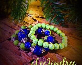 Girls Beaded Stretch Multi Strand Bracelet