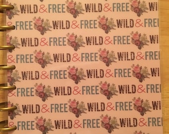 wild & free happy planner cover set (classic size on clearance)