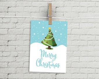"""CHRISTMAS CARD - pdf printable - Merry Christmas - Size 8.3x5.8"""""""