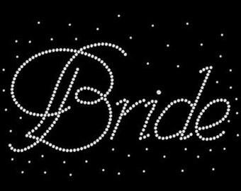 Bridal Party SHORT SLEEVE T Shirt  Bride Bridesmaid Maid of Honor Rhinestone Graphic