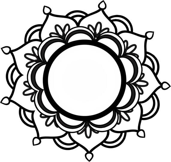 Monogram Mandala Svg
