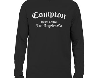 Compton Long Sleeve T-shirt Straight Outta NWA Ice Cube Dr Dre HipHop Rap