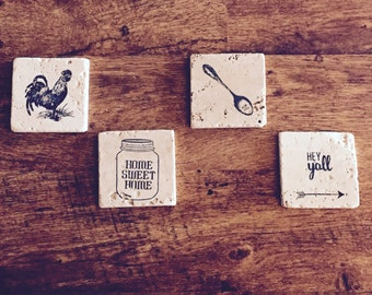 Southern Tile Coasters (set of 4)