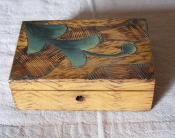 inlaid wood box-1940/50
