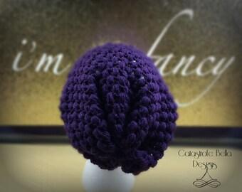 Purple Slouchy Bohemian Beanie Hat