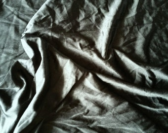 """Black Satin Tricot Poly Blend 2 way stretch 60"""" wide sold by the yard"""