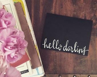 Hello Darling Card