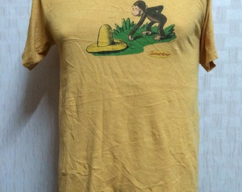 Vintage 90s CURIOUS GEORGE t shirt Small Size