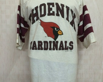 Vintage Phoenix Cardinals Football Team AFL Tshirt Jersey Polyester Cotton 50/50 By Logo 7
