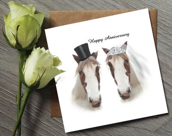 Funny Anniversary Card - Anniversary Gifts - Anniversary Card - horse Cards - anniversary gifts - 1st anniversary card - Anniversary